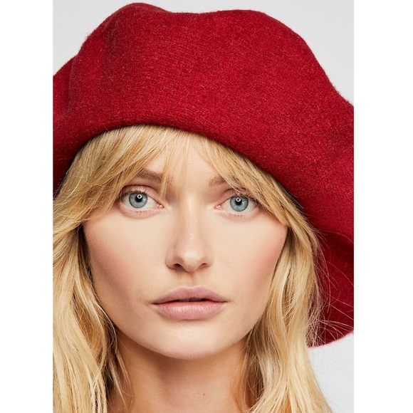 2f520a4cc00f8 Free People Margot Slouchy Beret in Red